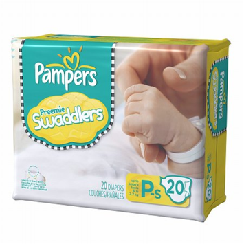 Pampers Swaddlers Preemie Diapers Size P-S