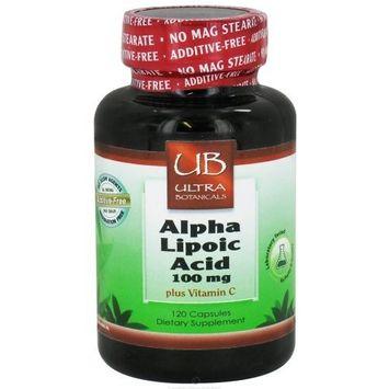 Ultra Botanicals - Alpha Lipoic Acid plus Vitamin C 100 mg. - 120 Capsules