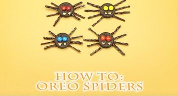 How to Make Oreo Spiders for Halloween