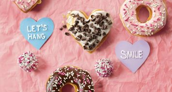 Dunkin' Donuts is Dropping Heart-Shaped Donuts