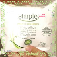 Simple® Micellar Makeup Remover Wipes uploaded by Megan H.