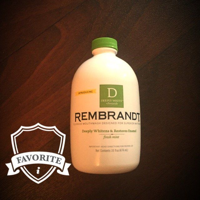 Rembrandt® Deeply White® + Peroxide Fluoride Mouthwash