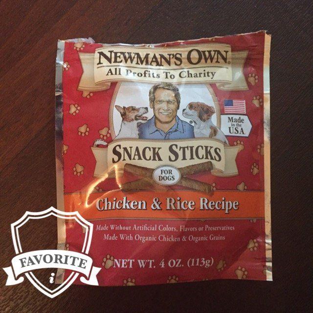 Newman's Own Organics Snack Sticks Chicken & Rice Recipe Dog