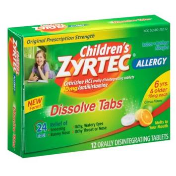 Zyrtec Children's ZYRTEC 24 Hour Allergy Dissolve Tablets