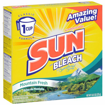 Sun Grown Sun with Bleach and Sunsational Scents Mountain Fresh Powder Laundry Detergent