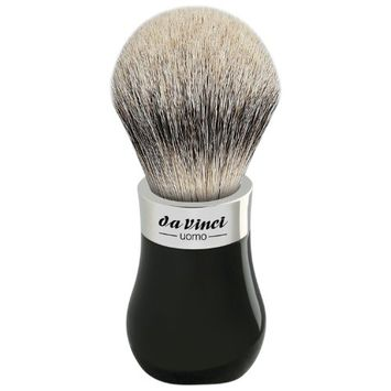 Da Vinci Series 293 Uomo Shaving Brush Silvertip Badger Hair Bead Handle with Shower Holder