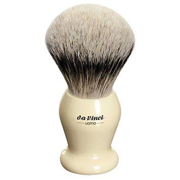 Da Vinci Series 294 Uomo Shaving Brush Silvertip Badger Ivory Color Handle