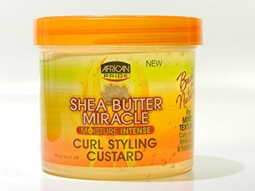 African Pride Shea Butter Miracle Curl Custard Styling