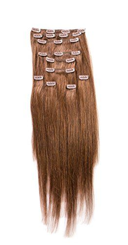 """Sono Hair Extensions 150 G 18"""" Clip-in Straight 100% Human Hair Extensions"""