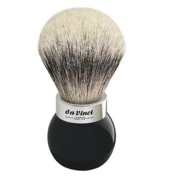Da Vinci Series 290 Uomo Shaving Brush Silvertip Badger Hair Globe Handle with Shower Holder
