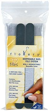Flowery Nail File Disposable Pad System Kit