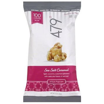 479 Degrees Sea Salt Caramel Artisan Popcorn, 5 oz, (Pack of 12)
