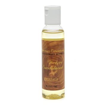 Aura Cacia Precious Essentials Aromatherapy Massage Oil Purifying Sandalwood