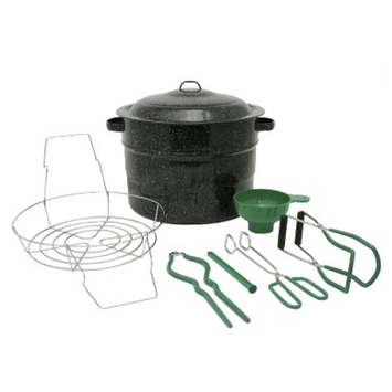 Granite Ware 8 pc Canner Set - Black (21.5 qt)