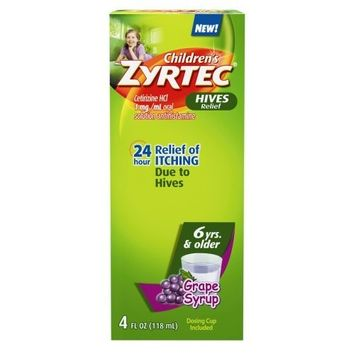 Zyrtec Children's Hive Relief Syrup, Grape