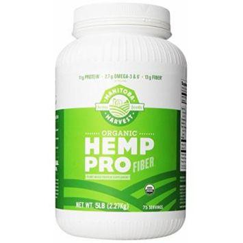 Manitoba Harvest Organic Hemp Pro Fiber Protein Supplement, 5 Pound
