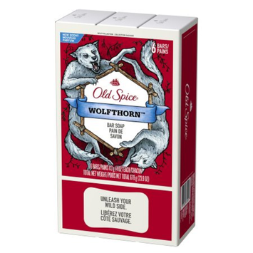 Old Spice Wild Collection Bar Soap, Wolfthorn, 6 ea