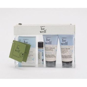 Simply Be Well 5 Piece Bath and Body Travel Kit (Lavender Vanilla)