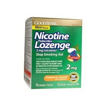 Good Sense Nicotine polacrilex lozenge 2 mg, Mint flavor - 75 ea