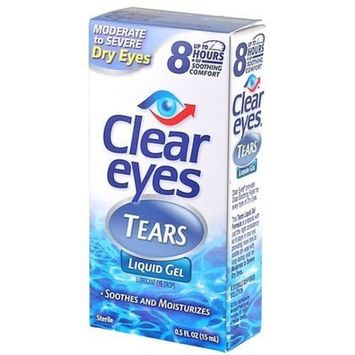 Clear Eyes Tears Moderate to Severe Dry Eye Liquid Gel-0.5 oz