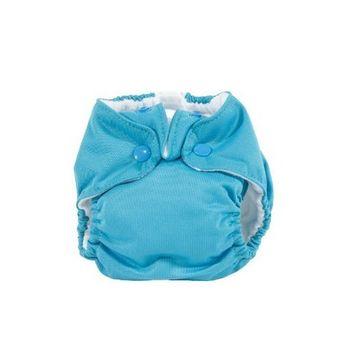 Kissaluvs Kissa's Newborn All-In-One Diaper, Lagoon Blue