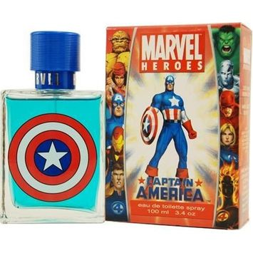 Captain America By Marvel For Men, Eau De Toilette Spray, 3.4-Ounce Bottle