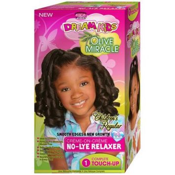 African Pride Dream Kids No-Lye Regular Relaxer Touch Up Kit