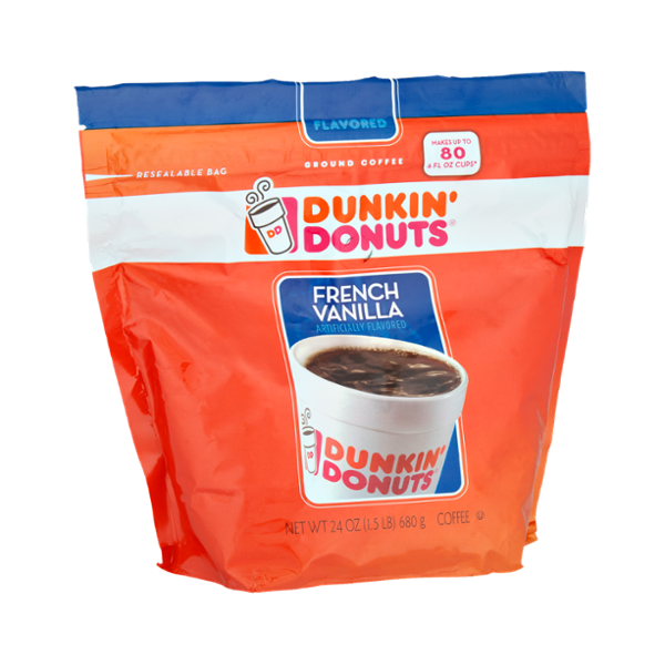 Dunkin' Donuts French Vanilla Flavored Ground Coffee ...