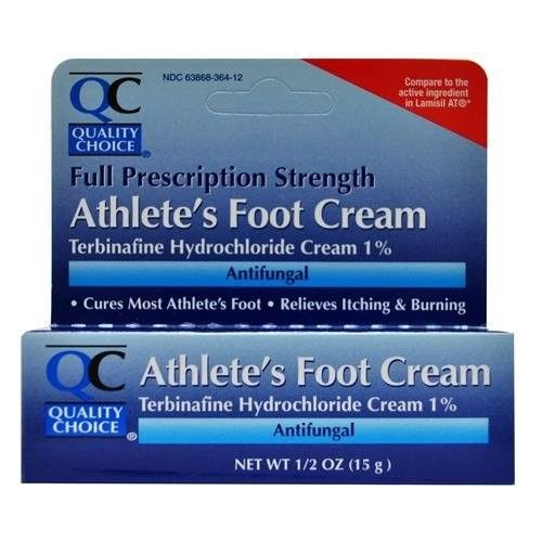 Quality Choice Anti-fungal Cream Jock Itch Athlete's Foot Terbinafine Hydrochloride 1% Compare to Lamisil AT .42 Oz