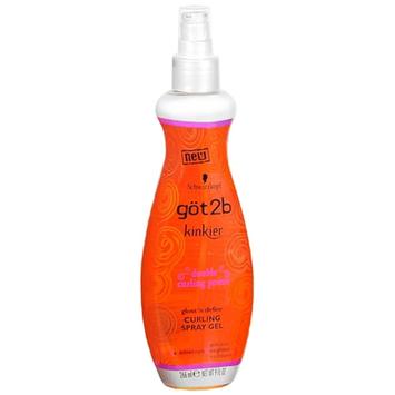 göt2b® Kinkier® Double Curling Power Amplify Curling Spray Gel