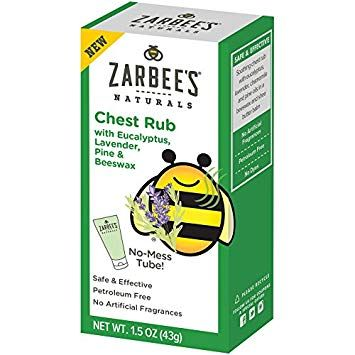 Zarbee's Naturals Chest Rub with Eucalyptus, Lavender, Pine, Beeswax