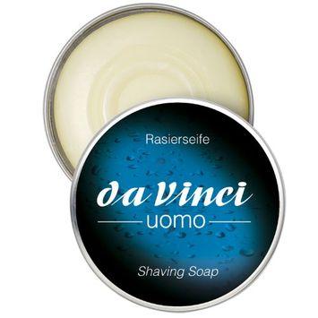Da Vinci Series 4894 Uomo Shaving Brush Soap in Round Metal Casing