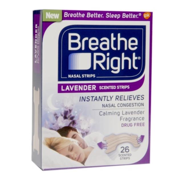 Breathe Right Lavender Scented Nasal Strips