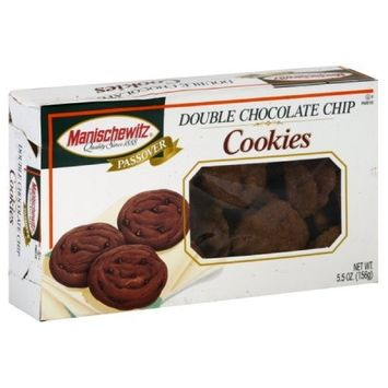 Manischewitz Cookies, Double Chocolate Chip, Passover, 5.50-Ounce (Pack of 4)