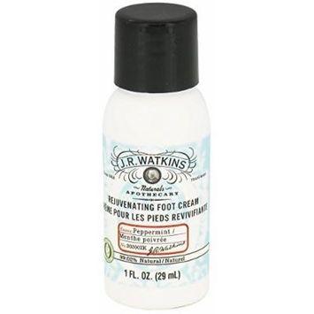 JR Watkins - Naturals Apothecary Rejuvenating Foot Cream Travel Size Peppermint - 1 oz.