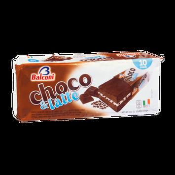Balconi Choco & Latte Sponge Cakes - 10 CT