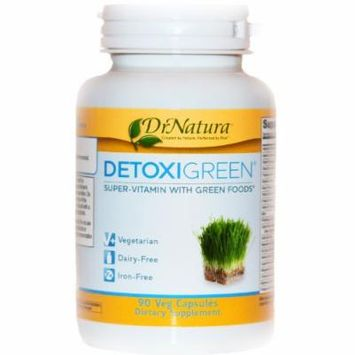 DrNatura DetoxiGreen Daily Detox & Antioxidant Support 90-Vcaps Bottle