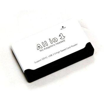 Bytecc U2CR-510 USB2.0 6-slots All-In-1 Palm-sized Card Reader- White & Black- S