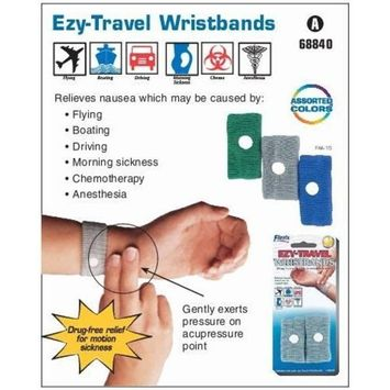 Flents Ezy Travel Wristbands - Drug Free Relief for Motion Sickness