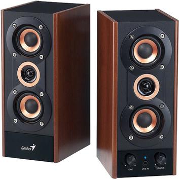 Genius SP-HF800A 2.0 Speaker System, Maple Wood