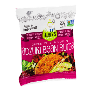 Hilary's Eat Well Green Chili & Cumin Adzuki Bean Burger Patties - 2 PK