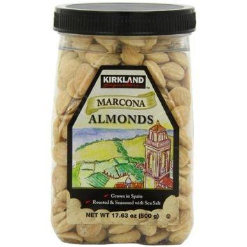 Kirkland Signature Kirkland Marcona Almonds, Roasted and Seasoned with Sea Salt, 17.63 Ounce