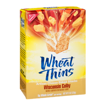 Nabisco Wheat Thins Wisconsin Colby Whole Grain Artisan Cheese Baked Snacks