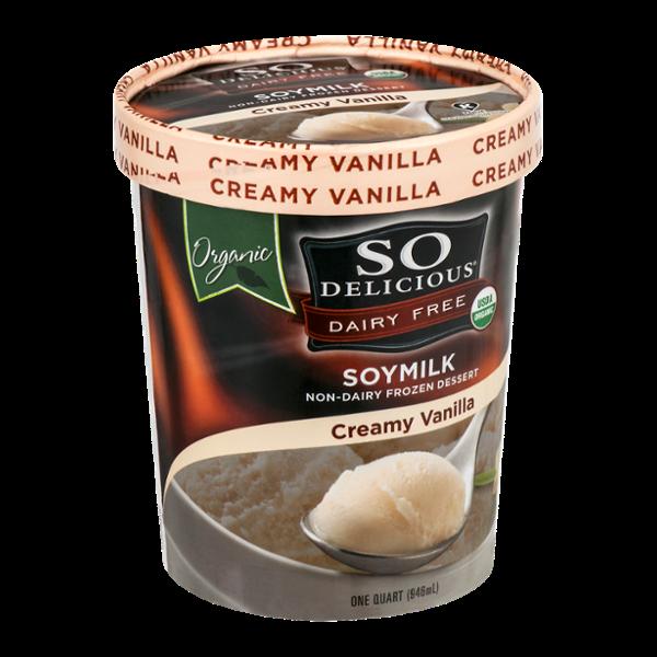 So Delicious Dairy Free Soymilk Frozen Dessert Creamy Vanilla