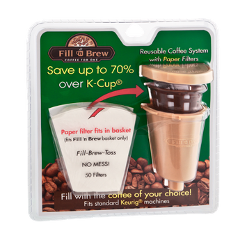 Fill 'n Brew Coffee For One Reusable Coffee System with Paper Filters