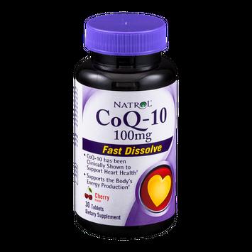 Natrol CoQ-10 100mg Dietary Supplement Fast Dissolve Tablets Cherry Flavor - 30 CT