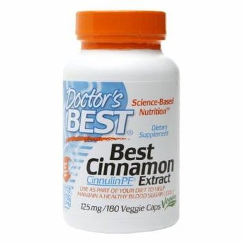 Doctor's Best Best Cinnamon Extract Cinnulin PF 125mg , Vegetarian Capsules 180 ea