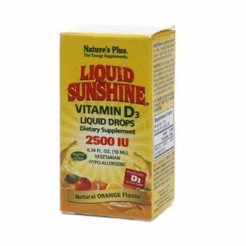 Nature's Plus Liquid Sunshine Vitamin D3 2500IU, Orange 0.34 fl oz (10 ml)