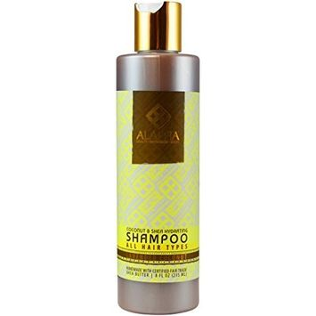 Alaffia- Virgin Coconut & Shea Butter Daily Hydrating Shampoo- 8 oz