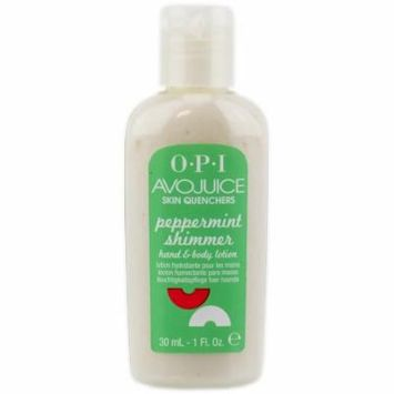OPI Avojuice Peppermint Shimmer body & hand lotion 1oz - 30ml (travel size) Set of 3